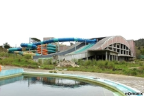 Almargem water park Viseu Portugal Partially built but never used