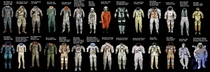 Almost every spacesuit ever made - graphic by ucrunchsmash