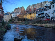 Along the banks of the Water of Leith Edinburgh Scotland