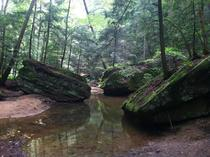 Along the gorge at Old Mans Cave in the Hocking Hills -  oc