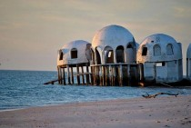 Along the Gulf lies this futuristic abandoned dome home