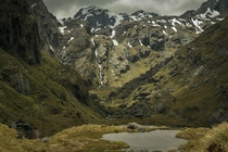 Along the Routeburn Track South Island New Zealand December
