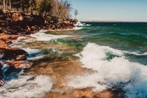 Along the shores of the Apostles Islands in northern Wisconsin