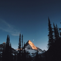 Alpenglow on Mount Assiniboine BC