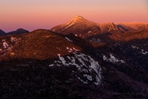 Alpenglow on Mt Colden in the Adirondack High Peaks - Winter is here