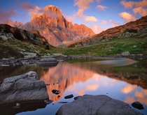 Alpine Lake in the Dolomites of Italy  by Andrea Lastri