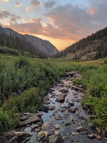 Alpine Meadow sunset in the Vestal Basin Colorado