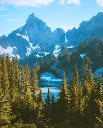Alpine summers in the Cascade Range Washington State