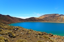 Also naturally blue water at The Blue Lake Tongariro New Zealand
