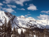 Alta UT My personal favorite ski mountain the cliff face on the left is called Devils Castle Picture taken March
