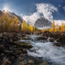 Altai - the river Aktru Russia  by Daniel Korzhonov