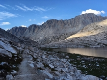 am Evolution Valley on the John Muir Trail California