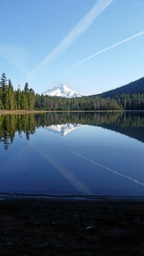 am on a small lake on Mount Hood Oregon