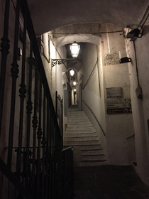 Amalfi Italy - exploring the tunnels and staircases that connect the neighborhoods up the mountains