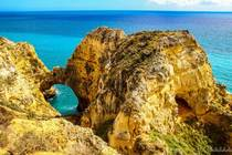 Amazed how beautiful these cliffs were Close to Lagos Portugal