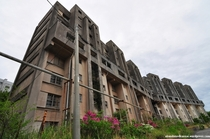 Amazing abandoned apartment building on a former mining island in Japan