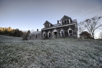 Amazing Abandoned House in Rural New Brunswick Just After Sunrise
