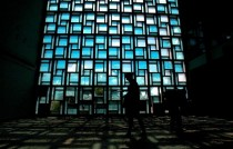 Amazing airport stain glass window in UN Buffer Zone of Cyprus Abandoned since   Xpost from rpics