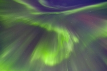 Amazing Aurora Borealis in Northern Norway Picture was taken straight up and is not digitally altered