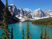 Amazing Colors of Moraine Lake Alberta