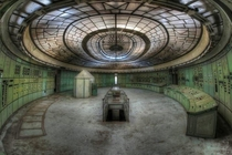 Amazing deco ceiling in abandoned power station