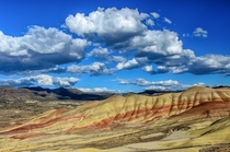 Amazing display of colors when the sun is on the right spot Painted Hills Oregon