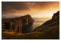 Amazing light just after sunrise at Trlanpan Faroe Islands