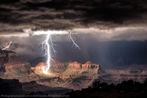 Amazing lightning over the Grand Canyon