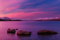 Amazing Sunset at Lake Tekapo New Zealand by Vincent Frascello
