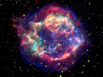 Amazing Supernova Remnant In The Constellation Cassiopeia  Light Years Away