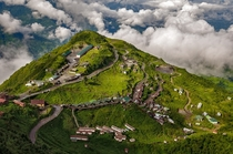 Amazing View of Morning in Village Zuluk it small village beside a winding road Zuluk Village of India