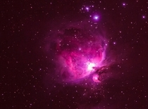 Amazing view of Orion Nebula one of the best Nebulae in the night sky Captured through mm lens in  seconds tracked by guiderscope