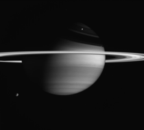 Amazing view of Saturn captured by the Cassini spacecraft