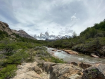 Amazing view over the Fitz Roy near El Chaltn in Patagonia - Argentina  x