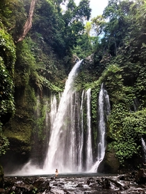 Amazing waterfall in Lombok Indonesia