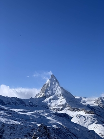 Amazing weather at the Matterhorn Valais Switzerland