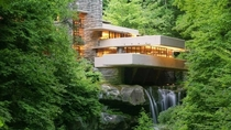American architect Frank Lloyd Wright designed Fallingwater in  as a private residence in the mountains of Southwestern Pennsylvania It is a prime example of organic architecture  fusing art and nature