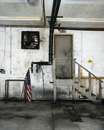 American Flag in an Abandoned Factory