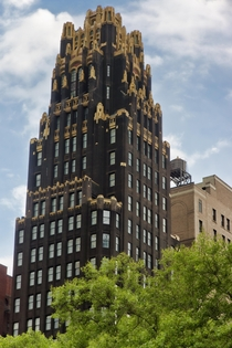 American Radiator Building - conceived by the architects John Howells and Raymond Hood - built in  in midtown Manhattan New York City