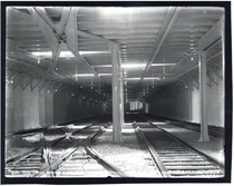 Americas first subway tunnel Tremont Street Subway in Boston just before opening day