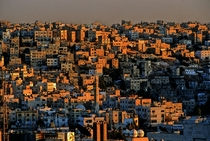 Amman Jordan in the golden hour