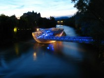 Amphitheater on the Water - Murinsel by Vito Acconci in Graz Austria