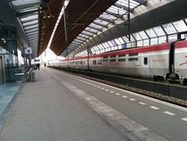 Amsterdam Bijlmer Arena station The Netherlands with a diverted Thalys to France