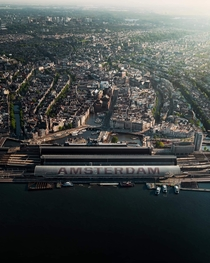 Amsterdam from above pic by jorrocooper