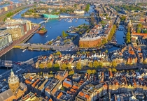Amsterdam Holland-Netherlands Aerial Panorama
