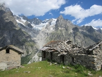 An abandoned alpine home Italian Alps