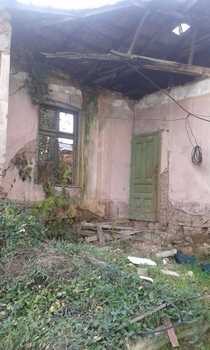An abandoned and ruined house I found in Skopje Macedonia x