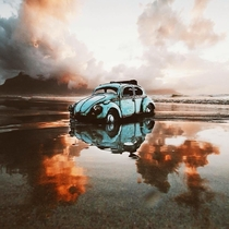 An abandoned Beetle at Lagoon Beach Milnerton Afrique du Sud