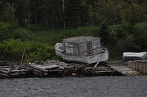 An abandoned boat in Newfoundland