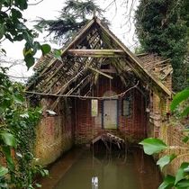 An abandoned boathouse I found on a walk along the Thames Goring England